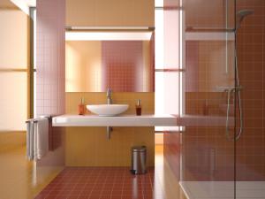 Плиточные работы в ванной.